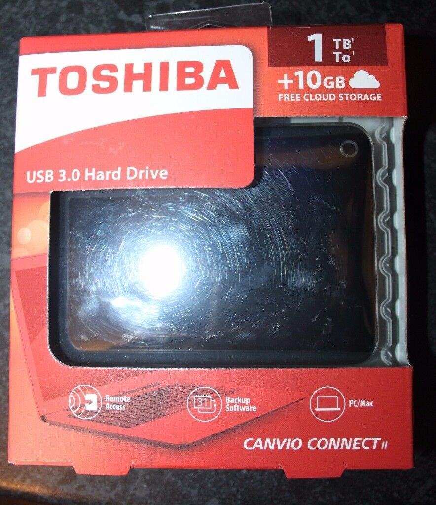 1tb Toshiba Hard Drive Usb 30 Canvio Connect Ii External Harddrive Hardisk Hardrive