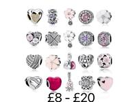Sterling silver charms fit Pandora - New