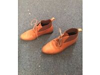 Brown heeled ankle boots in great condition!
