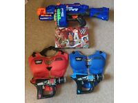 Kids shooting games and bop bag