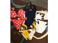 3 x Bikinis & 1 x Swimming Costume all SIZE 8