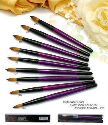 - USA Top Quality Kolinsky Acrylic Round Nail Brush Size 6 8 10 12 14 16 18 20 22