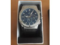 Silver Hublot watch for sale, brand new with box