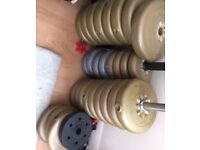 Weight plates various/total of 65-70kg - STILL AVAILABLE