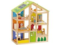 Wood dolls house