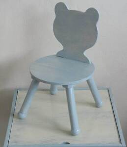 Vintage Wooden Teddy Bear Shaped Childrens Play Table & Chair Set Waratah Newcastle Area Preview