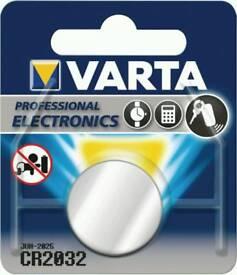 Pack of 25 Varta CR 2032 battery