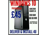 WINDOWS10 PC DESKTOP COMPUTER TOWERS, DELIVER&INSTALL 4U