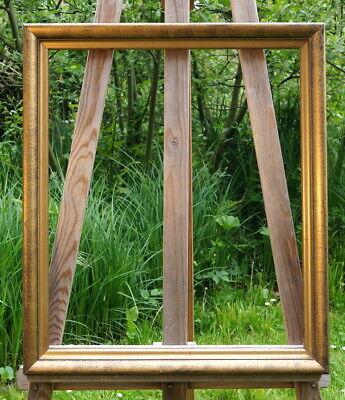 Magnificent Frame Stucco Solid Wood 61 x 53 cm Fm 54 x 46 Noble & Beautiful