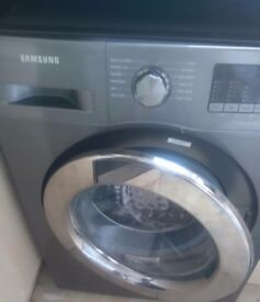Brill condition silver samsung washing machine