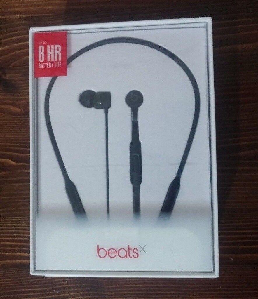 Beats by Dr. Dre BeatsX In-Ear Wireless Headphones - Black, New, Sealed. Beats X from Apple store