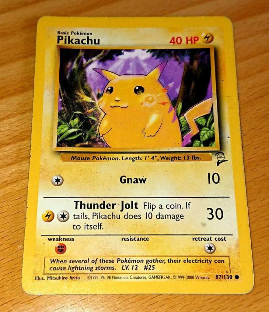 Pikachu Original Pokemon Card