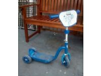 Blue scooter tri-scooter boys 2-4 years