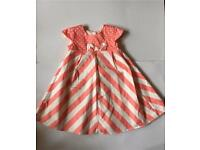 Pink chevron dress age 12-18 months
