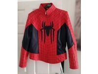 Official Men's Spiderman Jacket Faux Leather