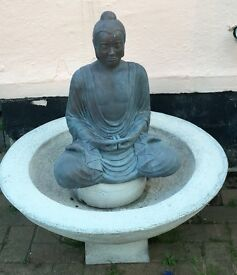 Concrete Buddha Water Feature