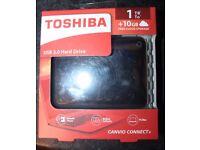 toshiba 1tb usb 3.0 external hard drive canvio connect II