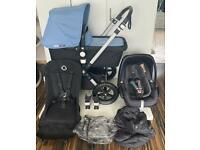 Bugaboo cameleon 3 leather handles travel system. Cam 3 pushchair. Pram . Stroller