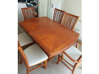 Dining Room Table and 6 Chairs. Very Good Condition - £160. Collection from Kilmarnock.