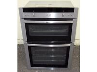 Neff electric double oven with fan and grills. Stainless steel. Built in.