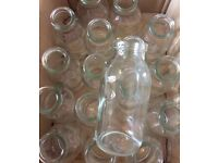 WEDDING DECORATIONS / 19 x SMALL MILK BOTTLES VASES