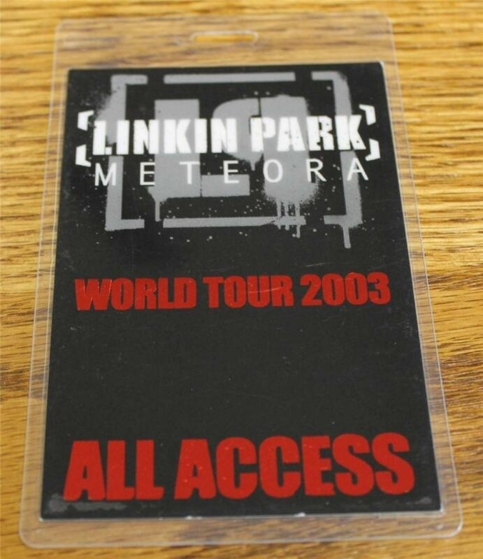 Vintage Linkin Park Meteora World Tour ALL ACCESS Perri Laminated Backstage Pass