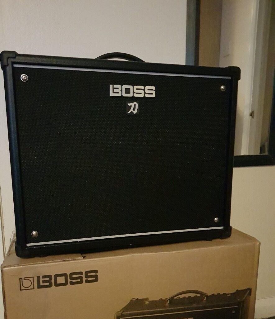 "Boss Katana 100w 1x12"" Guitar Amp, boxed as new"