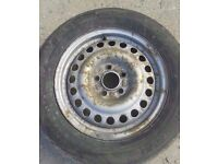 """2002-2009 FORD TRANSIT CONNECT 15"""" STEEL WHEEL WITH TYRE 195/65/R15"""