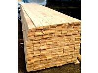 £1.40 per metre 22mm thick T+G floor boards A* Grade Scandinavian Redwood timber cladding