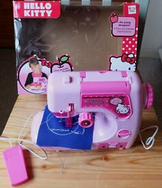 HELLO KITTY KIDDIE'S SEWING MACHINE