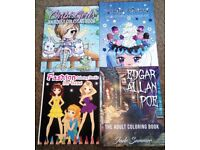 Adult Colouring books - Chibi Girls, Sugary Dreams, Fashion, Edgar Allan Poe