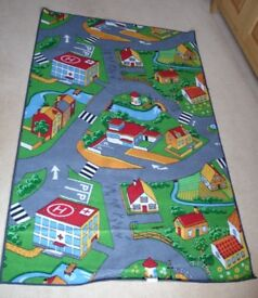 Play Mat for a Child - Road Scene