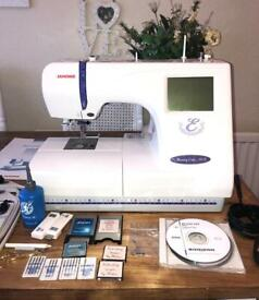 Janome 300e embroidery machine and lots of extras