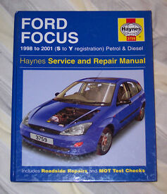 Haynes Manual - Ford Focus 1998 to 2001 (S to Y reg) Petrol & Diesel