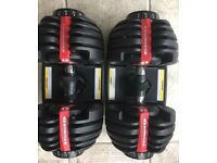 Bowflex 2-24kg 552i SelectTech Dumbbells (PAIR) - 15 Dumbbells in One ***PERFECT CONDITION***