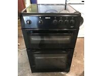 Black Beko 60cm free standing electric cooker, 4 months warranty