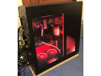 Fully Watercooled Intel i7 7700k Nvidia Geforce GTX 1080 8GB Windows 10 Pro Gaming PC