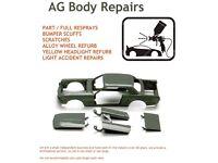 AG BODY REPAIRS BUMPER SCUFFS FULL/PART RESPRAYS ALLOYS REFURBED
