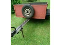 6x4 braked trailer