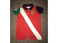 Ralph Lauren polo top/ all in one