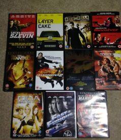 Action film DVD bundle. 11 movies
