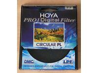 Hoya Pro 1 Digital Circular Polarising Filter 77mm