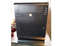 16TB HP Proliant Microserver N40L Computer with 120GB SSD, 4x4TB HDDs, 8GB RAM, Windows 10