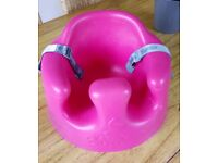 Bright Pink Bumbo with Seatbelt