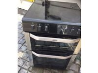 BLACK/STAINLESS STEEL BELLING 60CM ELECTRIC COOKER ,EXCELLENT CONDITION, 4 MONTHS WARRANTY