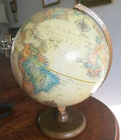 Beautiful globe on stand in perfect condition