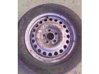 """2002-2009 FORD TRANSIT CONNECT 15"""" STEEL WHEEL WITH TYRE TYRE SIZE: 195/65/R15"""