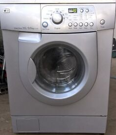 LG Silver Washer Dryer 7kg direct drive, can deliver