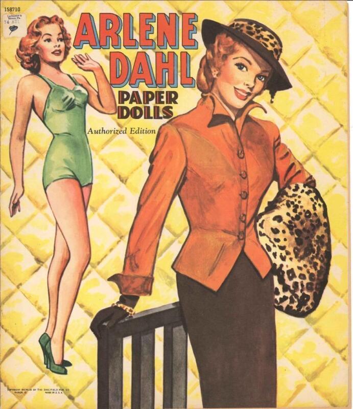 VINTAGE UNCUT 1953 ARLENE DAHL PAPER DOLLS HD LASER REPRODUCTION~LO PR~HI QUAL