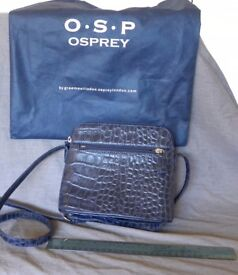 Osprey Handbag in Navy Croc - complete with Dust Bag. Only used once - perfect condition